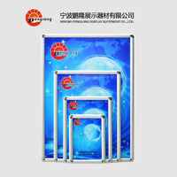 sign frame Easy front open photo clip aluminum 25mm poster frame