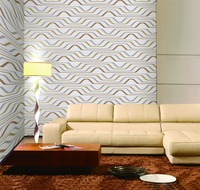glue paste 3d decorative wallpaper from china