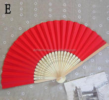 New Design Mix Color Personalized Printing/Engrave Logo On Ribs Wooden Bamboo Hand Silk Wedding Fans+Gift Box/Organza