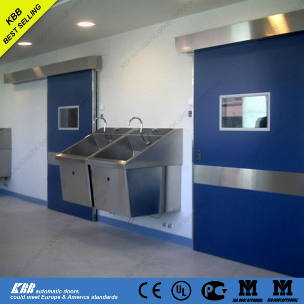 Hot selling hospital hermetic door for operation room viewing window lead board HPL plate CE certificate Chinese factory price