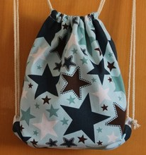 High Quality Star Colorful Cotton Drawstring Shopping Bag OEM