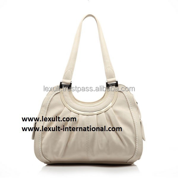 Womens White Leather Handbag