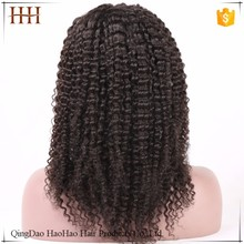 Hot selling factory elastic band brazilian hair glueless full lace wig