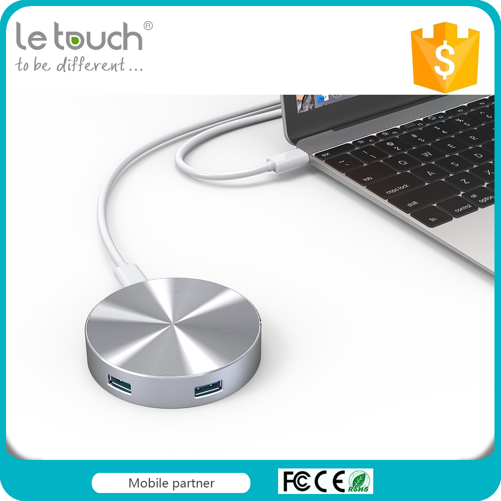 Trade assurance high quality ABS frosted material Super speed type-c interface 4 port usb 3.0 hub with PD function