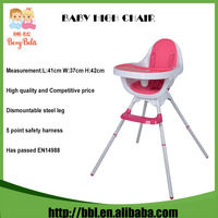 Manufacturer Hot Sales Simple Design Seat Removable Pink Baby Dinner Feeding Table Baby Dinner High Chair