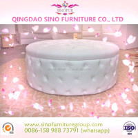 wedding round button tufted sofa