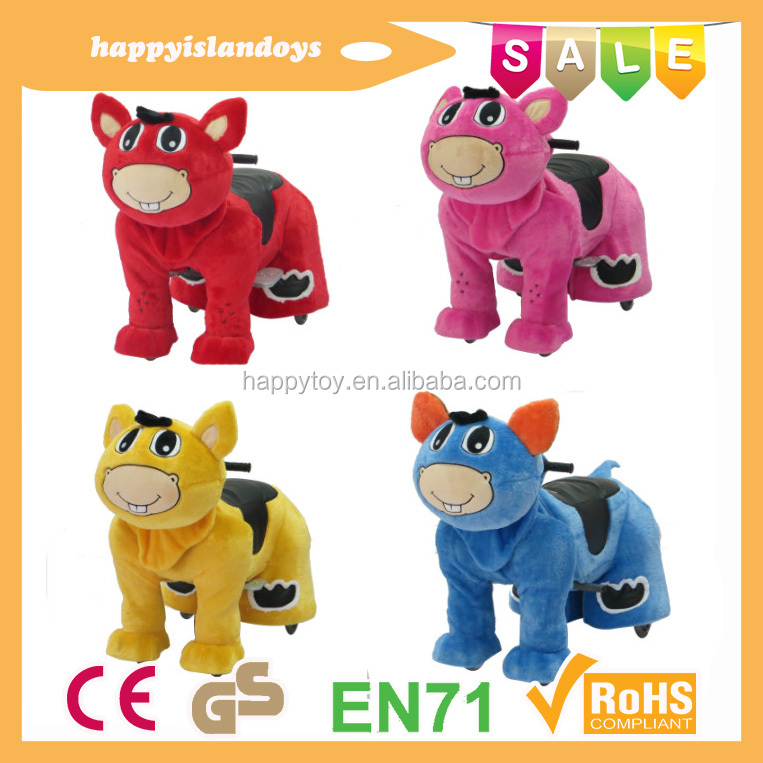 Electric animal motor scooters for adults&girls cartoon horse toys&coin operated cycle for kid
