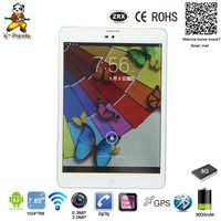 Tablet pc 7.85 inch MTK8312 cheap tablet dual core 3G super slim Android phone tablet