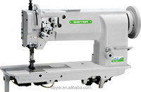 double needle long arm heavy duty compound feed lockstitch sewing machine