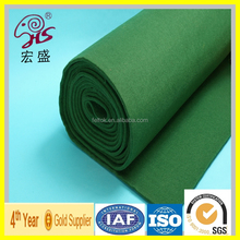 hongsheng high quality nylon pool table felt with SGS