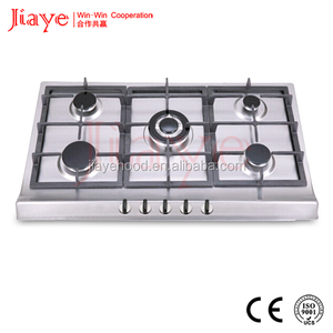 Classical Type Stainless Steel Material AC/Battery Ignition Switch Control 5 Burner Cooker Hob Spare Parts JY-S5086