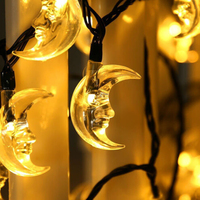 LED Solar Powered Moon String Lights for Christmas Party home decoration