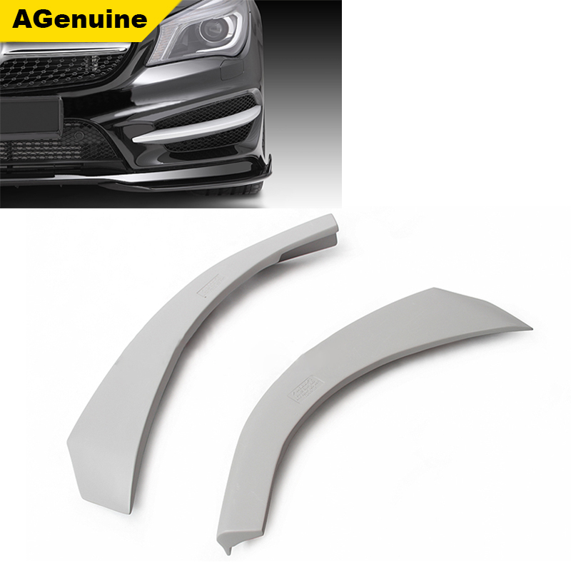 Cheap primer car front bumper lip spoiler front chin splitters for mercedes benz <strong>W117</strong> CLA 180 200 250 260 45
