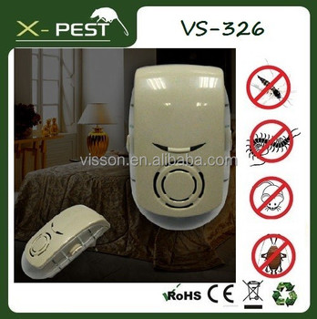 2015 Visson X-pest VS-326 Good Life Indoor Ultrasonic Mouse Mice Insect Pest Bug Zapper Repeller AC Plug in with LED Night Light