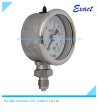 "2 1/2"" Crimpled Type Liquid Filled Pressure Gauge Exact"