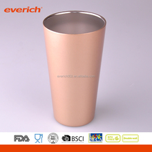 Frosted copper leakproof silver beer mug tumbler with lid