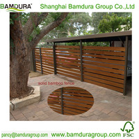 Decorative Solid Bamboo Fence Panels For
