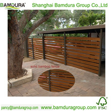 decorative solid bamboo fence panels for courtyard