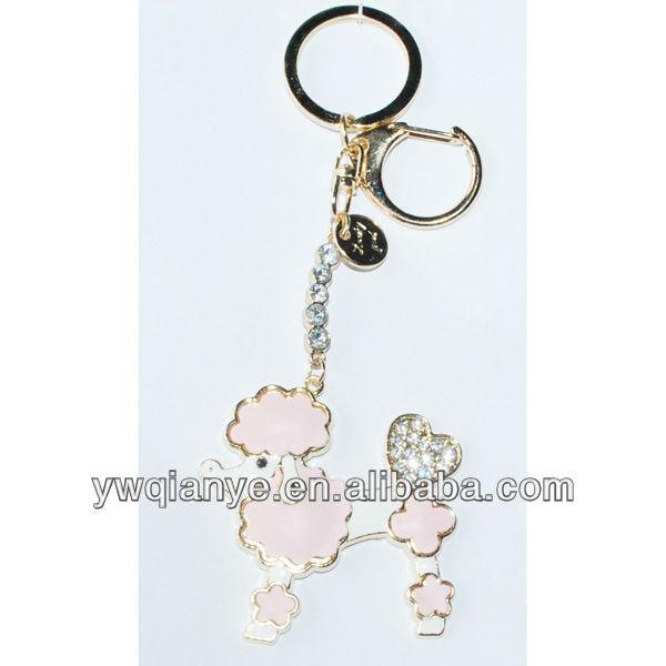 New leather sheep shape custom keychain