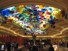BELLAGIO LOBBY art glass chandelier project light