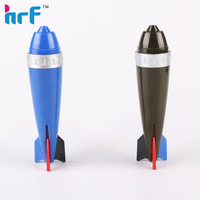 Novelty plastic 3 color rocket ball pen for children