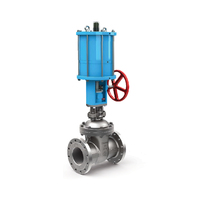 double-acting Pneumatic knife manual slide gate valve
