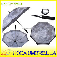 Moon full color printed 100 promotion parasol sun golf umbrella