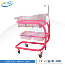 MINA-BB07 Four small flexible wheels hospital bed baby,bed newborn babies,adult baby crib