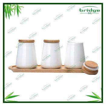 Totally Bamboo base with Ceramic spice Canister