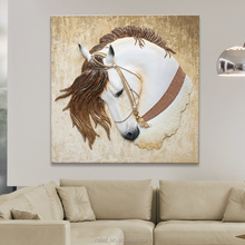 Handmade 3D Big Horse Wall Painting home furnishing oil painting horse for home Decoration