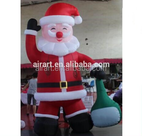 Santa Claus put outdoor inflatable model inflatable christmas decoration