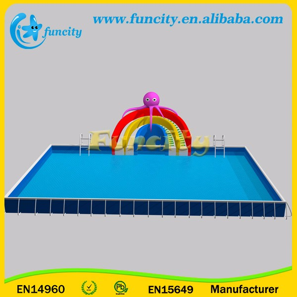 Outdoor High Quality Inflatable Mobile Water Park On Land For Sport Games