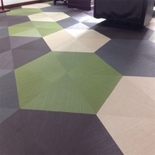 Customizable PVC woven vinyl flooring tile from China supplier
