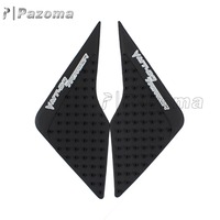 Pazoma Black Rubber + 3M Fuel Gas Stickers Tank Traction Side Pads for Yamaha MT09/FZ9 TRA/Tracer 2015-2017