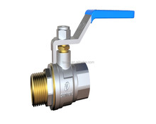 S1176 051 new style CE full bore full flow 600 wog male thread long handle brass stem brass Ball cock Valve