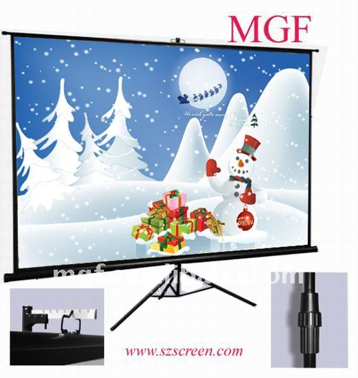 strong Tripod standing projector Screen with flat surface