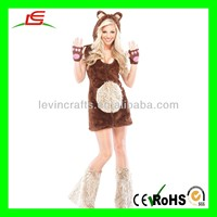 LE-D739 Cheap Sexy Girl with Furry Teddy Bear Lady Sexy Animal Costume