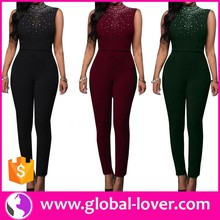 Sexy Jumpsuit 2016 Christmas Jumpsuit Plus Size Beaded Jumpsuit