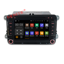 Free shipping Android 7.1 car dvd player for VW PASSAT /GOLF/SKODA/ CC/POLO/Golf 5 with GPS navigation multimedia radio 4G wifi