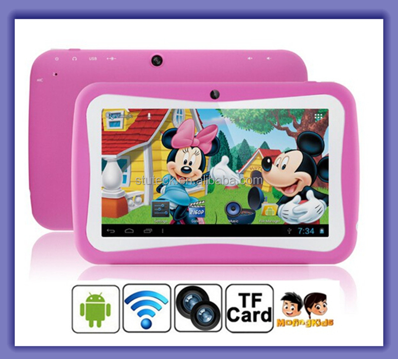 Cheap 7 Inch Capacitive Touch Screen Android 4.4 OS 8GB Version Kids Tablet PC