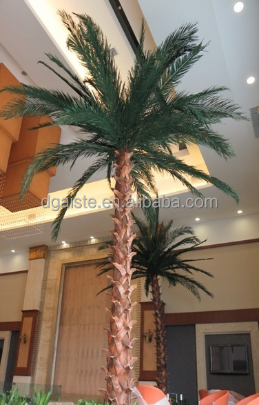 Home garden edging decorative 5ft to 16ft Height outdoor artificial green plastic palm trees EDS06 0841
