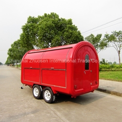 Commercial Coffee Cart / Mobile BBQ Food Cart / Food Cart for Popcorn