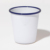 Promotional white enamelware Tumbler mug with heat transfer sublimation