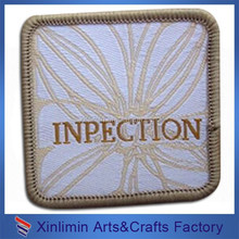 Newest design factory price leather patch fo garment