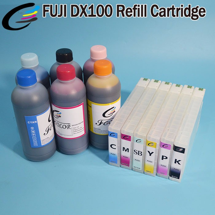 5~6 Grade Minilab Printer UV Dye Ink Fuji DX100 Recharge Ink Cartridge