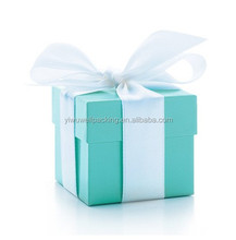 Fabrica venta directa! 2 unid azules wedding box candy, Wedding favor caja de 2 pulgadas