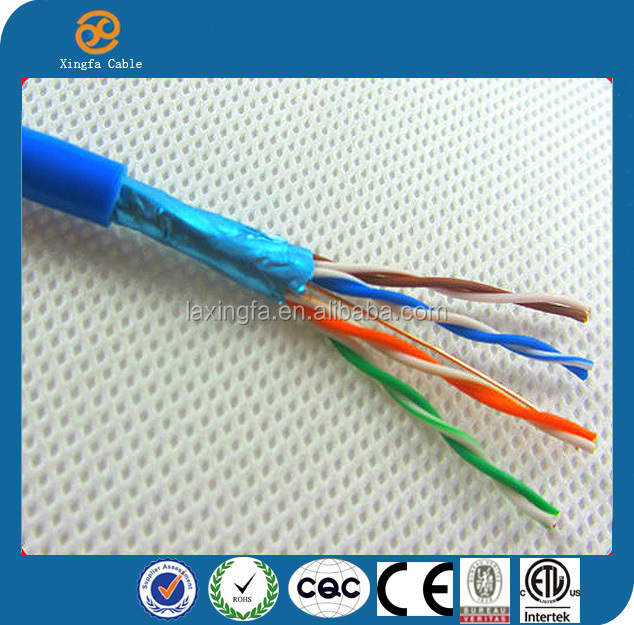 Hot selling high quality passing fluke network PVC Jacket armoured FTP Cat5e Cable