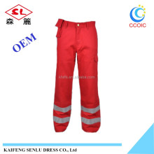 Flame retardant /Fire retardant workwear cargo Cotton Canvas Work Pant Trousers With Knee Pad/OEM Service