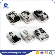 Fashionable lady wallet tin box with lid