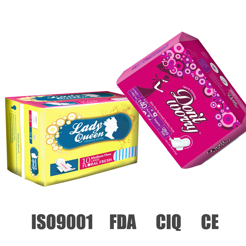 don't worry 2015 High absorption ultra thin cotton disposable intimate sanitary napkin pad
